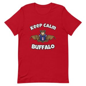 "Football ""Keep Calm"" Meditating Buffalo Short-Sleeve Unisex T-Shirt"