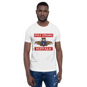 """Stay Strong"" Meditating Buffalo Football Short-Sleeve Unisex T-Shirt"