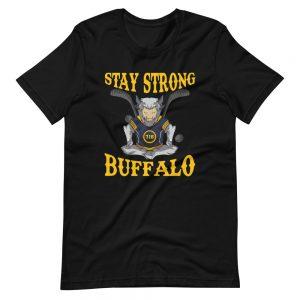 """Stay Strong"" Meditating Buffalo Hockey Short-Sleeve Unisex T-Shirt"